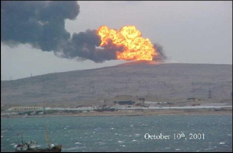 (C) Azerbaijan24 - Major eruption (10th October 2001)