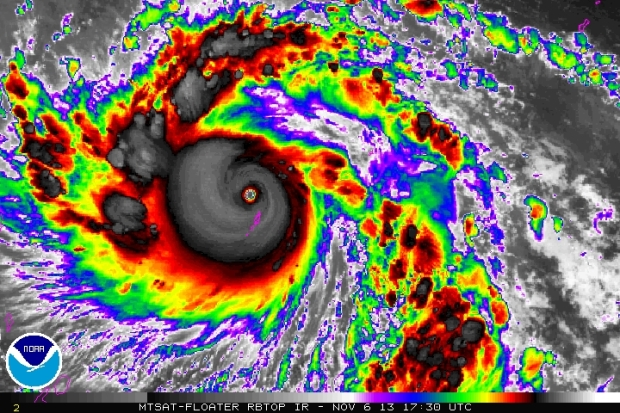Typhoon Haiyan captured last  Wednesday by NOAA (C) NOAA