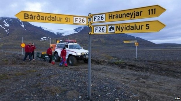 Icelandic authorities have closed many routes near Bárðarbunga and continue to monitor local ground movement. Image: BBC News.